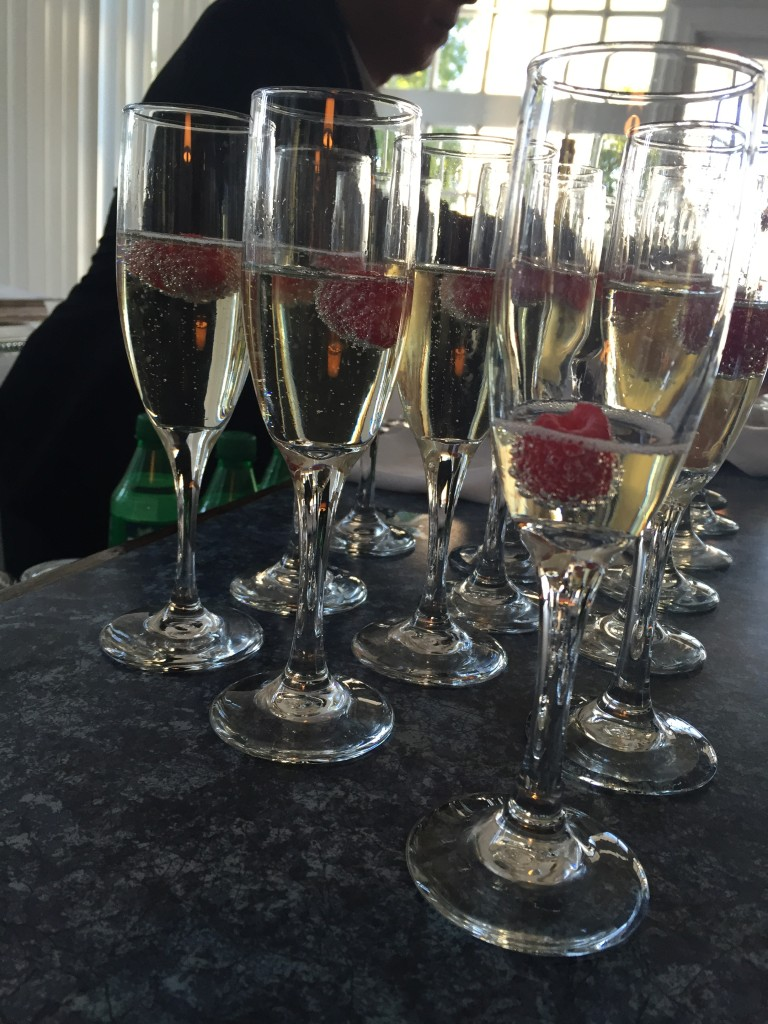 Prosecco cocktails at the Royal Canadian Yacht Club