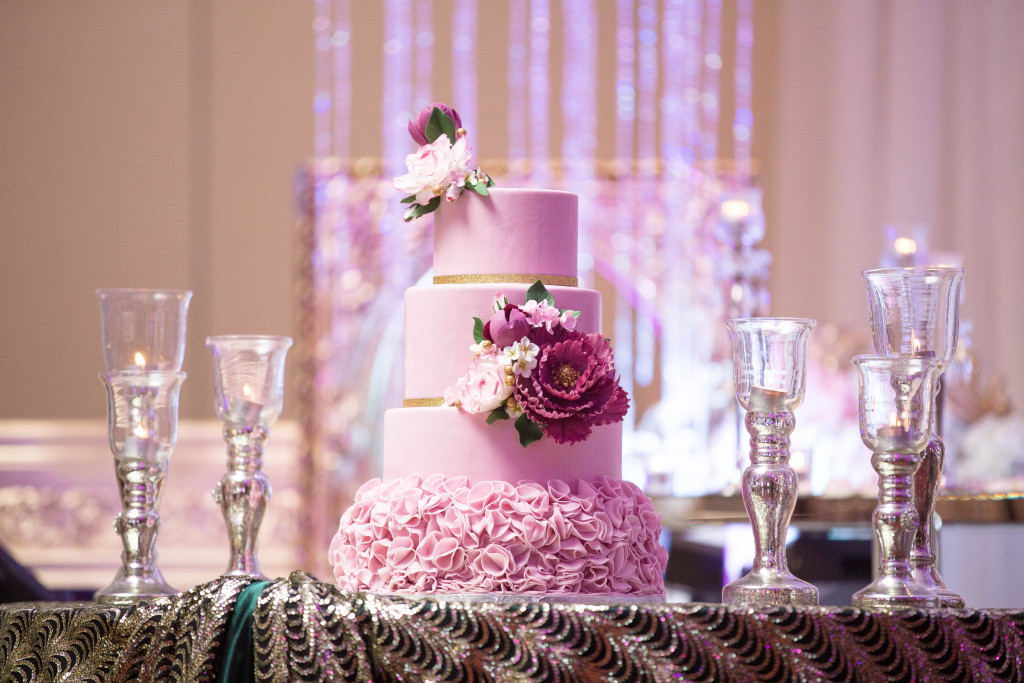 Gorgeous pink cake designed by Sonia!