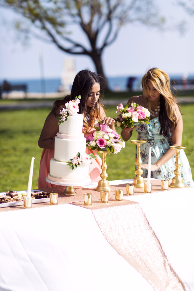 Alisha & Michelle coordinating a styled shoot. Photography by Thomas Zitnansky Photography.