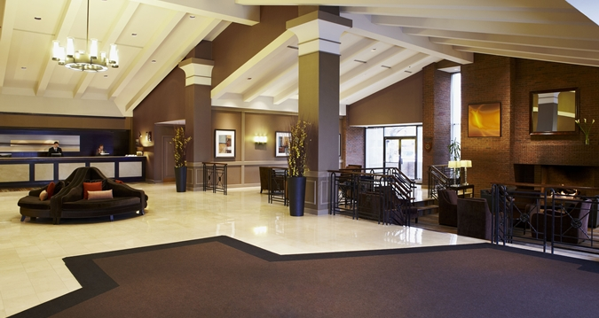 Lobby Of The Hilton Mississauga Meadowvale Courtesy Hotel