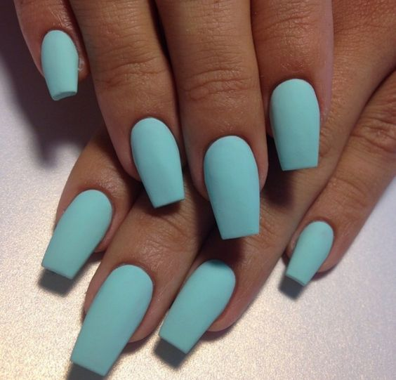 Lets your nails be your something blue on your big day!