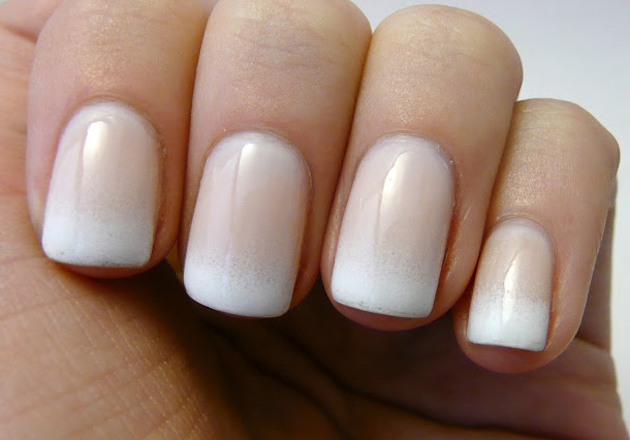 Can't decide between a French manicure, or a nude pink? Get the best of both worlds with this gradient French mani!