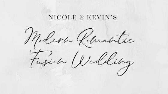 modern romantic fusion wedding