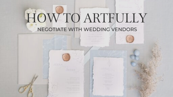 negotiating with wedding vendors
