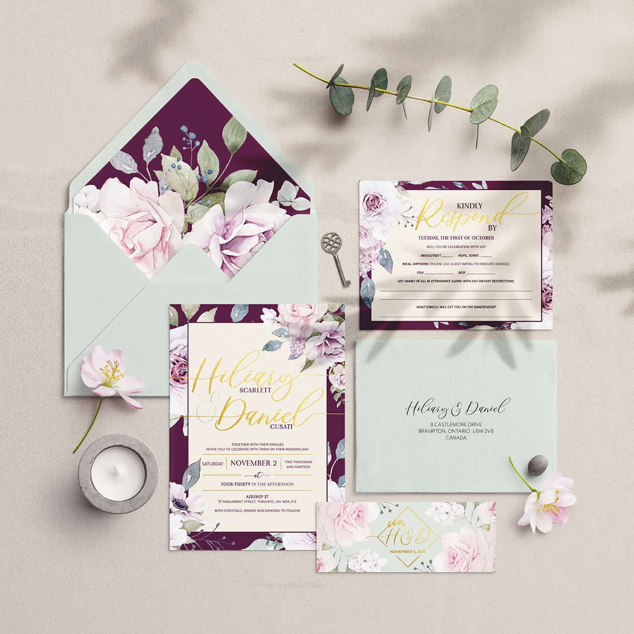 Toronto Wedding Planner - Stationery & Invitation